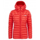 Geaca The North Face Summit L3 Down Hoodie W Rosu