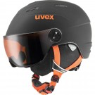 Casca Ski si Snowboard Copii Uvex Junior Visor Pro Black Orange Mat (Negru)