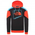 Hanorac Drumetie Barbati The North Face M Extreme Pullover Hoodie Tnf Black/Fiery Red/Meridian Blue (Negru)