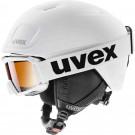 Set Casca si Ochelari Ski si Snowboard Copii Uvex Heyya Pro Set White-Black Mat (Alb)