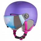 Casca Ski Si Snowboard Copii Alpina Zupo Visor Violet Matt Mov
