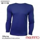 Bluza Barbati Merinito 200G 95% Lana Merinos 5% Elastan Albastru