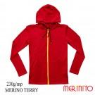 Hanorac Barbati Merinito Merinos Terry 230G 100% Lana Merinos Rosu