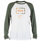Bluza First Layer Rome Shred Crew Rome Top Verde/ Alb