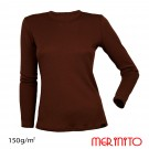 Bluza Femei Merinito 150G 100% Lana Merinos Maro