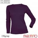 Bluza Femei Merinito 150G 87% Lana Merinos 13% Nylon Violet