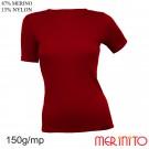 Tricou Femei Merinito 150G 87% Lana Merinos 13% Nylon Grena