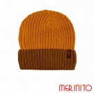 Caciula Unisex Merinito Duo-Color Beanie 50% Lana Merinos Portocaliu