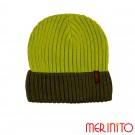 Caciula Unisex Merinito Duo-Color Beanie 50% Lana Merinos Verde