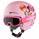 Casca si Ochelari Ski Copii Alpina Zupo Disney Minnie Mouse Multicolor