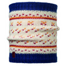 Neck tube Buff Comfort Knitted Ethel Alb/ Albastru