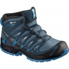 Incaltaminte Hiking Salomon Xa Pro 3D Mid CS WP J Albastru