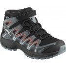 Ghete Copii Hiking Salomon XA Pro 3D Mid CSWP Negru / Gri