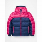 Geaca Puf Copii Marmot Guides Down Hoody Arctic Navy/Very Berry (Multicolor)