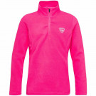 Bluza First Layer Copii Rossignol Girl 1/2 Zip Fleece Pink Fushia (Roz)