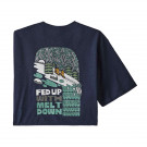 Tricou Barbati Patagonia Fed Up With Melt Down Responsibili-Tee Classic Navy  (Bleumarin)