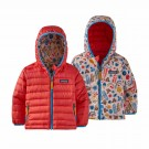 Geaca Puf Copii Patagonia Baby Reversible Down Sweater Hoody Seedling and Sprouts: Seafan Pink (Multicolor)