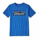 Tricou Casual Copii Patagonia Boys' P-6 Logo Organic T-Shirt Albastru