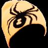 Caciula Spyder Boy's Reversible Bug Negru/Portocaliu