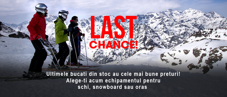 Outlet - Cele mai mari reduceri la echipamentul pentru schi, snowboard si oras