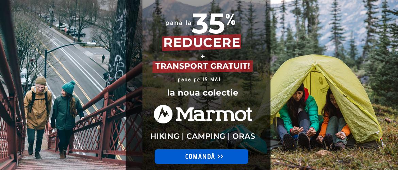 Pana la 35% la noua colectie marmot pentru alergare, drumetie si oras!