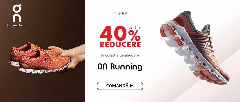pana la 40% la colectia de alergare On Running