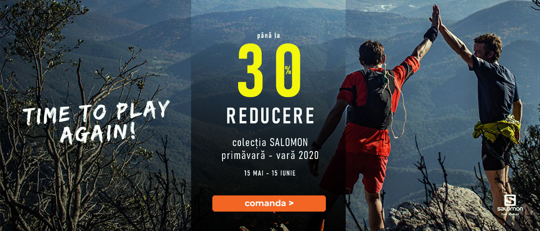 pana la -30% reducere la echipamentele pentru alergare, drumetie si oras Salomon 2020