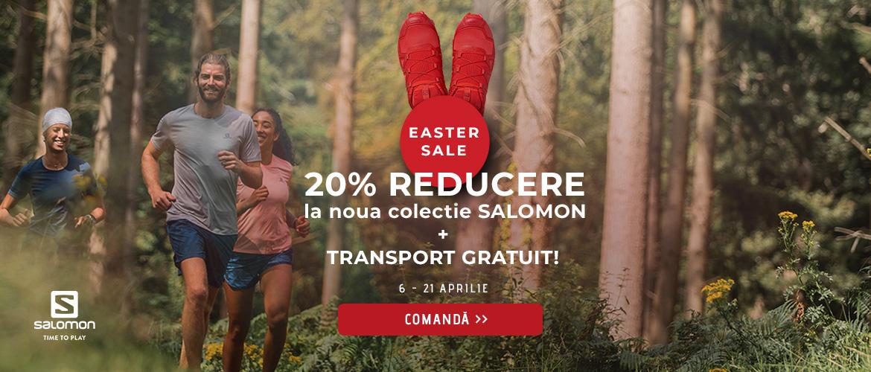 Extra 20% la Noua colectie Salomon pentru alergare, drumetie si oras!
