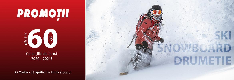 reduceri de iarna la pantaloni, geci si echipamente pentru schi sau snowboard