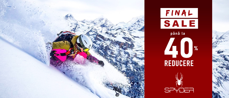 Final Sale Colectiile de ski Spyder - Wintermag.ro