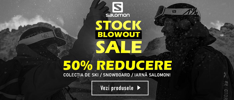 Liccidare de stoc la echipamente pentru schi, snowboard si oras Salomon
